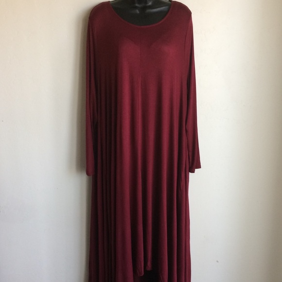 by Amelia Martin Dresses & Skirts - Red Dress Hi Low Long Sleeve XXL Amelia Martin
